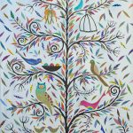 social birdies  -largeframed print