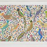 chirping birds -largeframed print