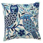 Baby blue birds cushion