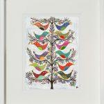 banyan birds - small framed print