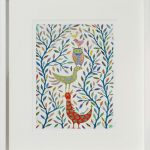 bird balance - small framed print