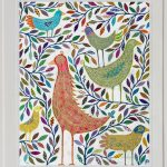 bird culture - large framed print