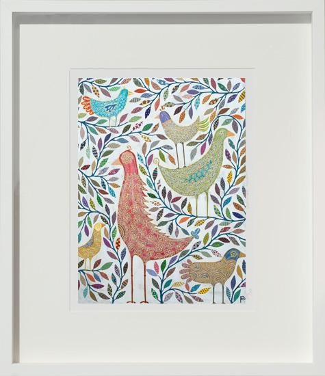bird culture - small framed print