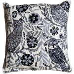 Black &  White Owls Cushion