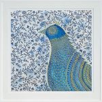 blue bird - large framed print