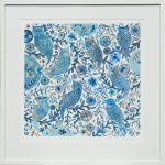blue owls - large framed print