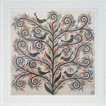 seven birdies - large framed print - SALE