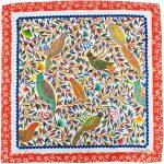 Chirping Birds 100% Silk Scarf