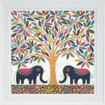 elephant banyan - large framed print