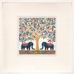 elephant banyan - small framed print