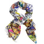 Embellish Silk Scarf - Winter