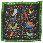 Emerald Night 100% silk scarf