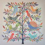 exotic birds - belgian linen