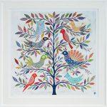 exotic birds - large framed print