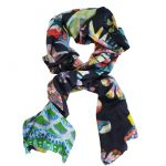 Flora and Fauna 100% cashmere scarf