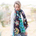 Flora and Fauna 100% silk scarf