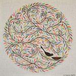 mandala nest - belgian linen - grey