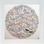 mandala nest - large framed print