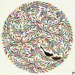 mandala nest - medium print