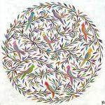 mandala parrots - small print