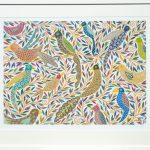 chirping birds - medium framed print