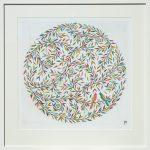love birds - medium framed print