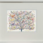 menagerie tree - small framed print