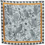 Midnight Owls 100% silk satin scarf