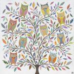 owl tree - large print