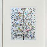 social birdies - small framed print
