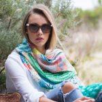 Spring Delight silk scarf - Winter