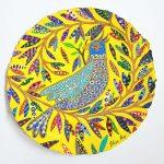 twiggy bird - original painting on paper