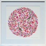Blush Mandala - medium framed print