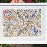 Chirping Birds Medium Framed Print Special
