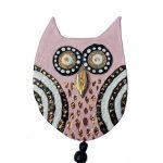 Pink Owl Ceramic