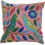 Pink Love Birds Cushion