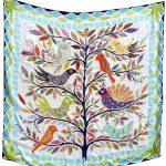 All the birds 100% Silk Scarf