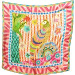 Bird Song 100% Silk Scarf