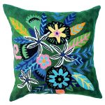 Forest Green Flowers Cushion
