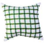 Green Gingham Cushion