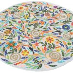 Flower Mandala Grey Rug
