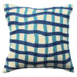 Blue Quirky Gingham Cushion