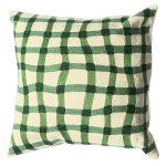 Green Quirky Gingham Cushion