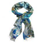 Blue Bouquet Scarf - Winter